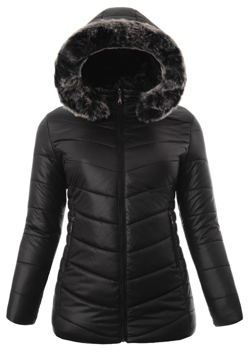 Женское зимнее  пальто  с капюшоном большой размер 3XL-7XL №4 Черный