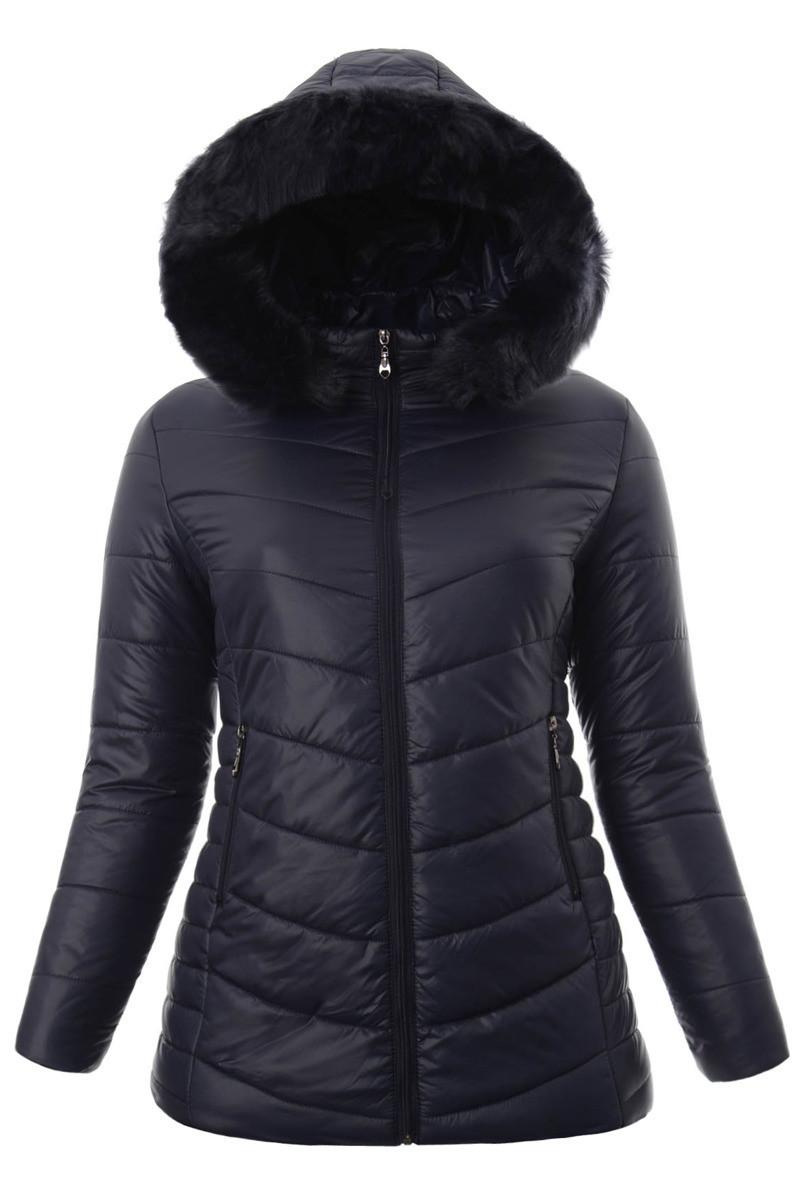 Женское зимнее  пальто  с капюшоном большой размер 3XL-7XL №4 Синий