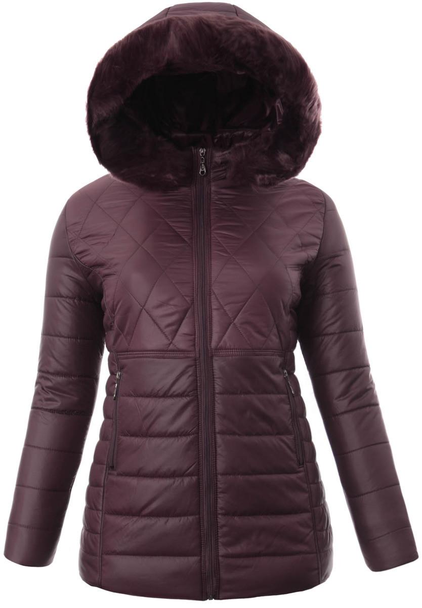 Женское зимнее  пальто  с капюшоном большой размер 3XL-7XL №5 Фиолетовый