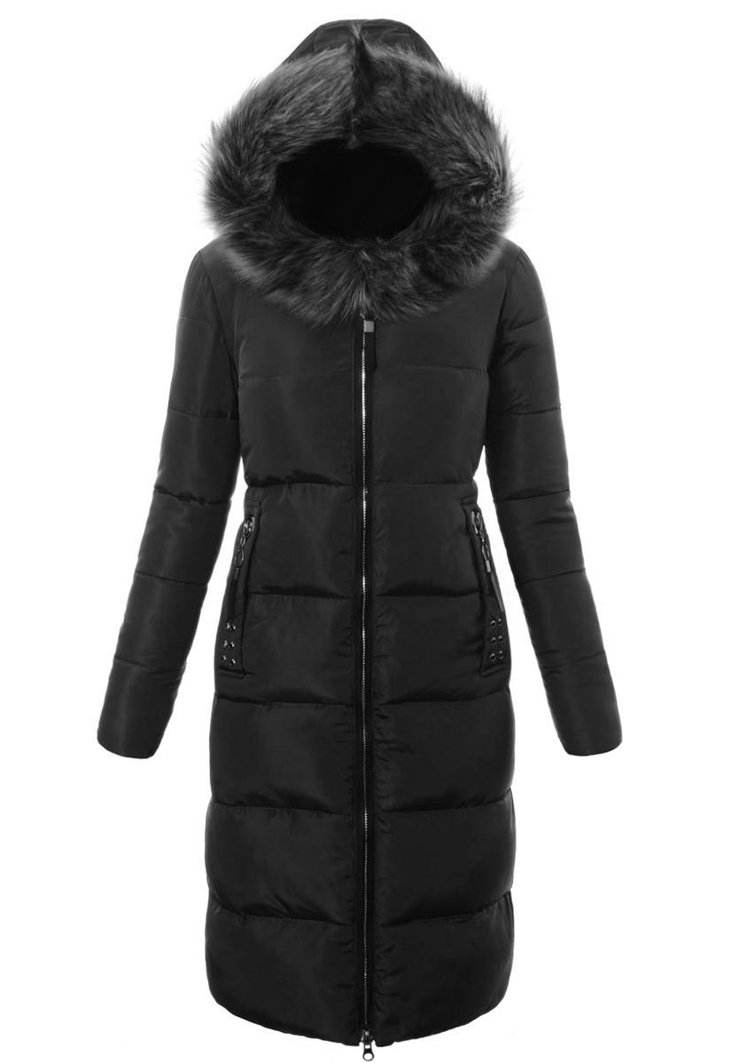 Женское зимнее стёганое пальто  с капюшоном №8 Синий