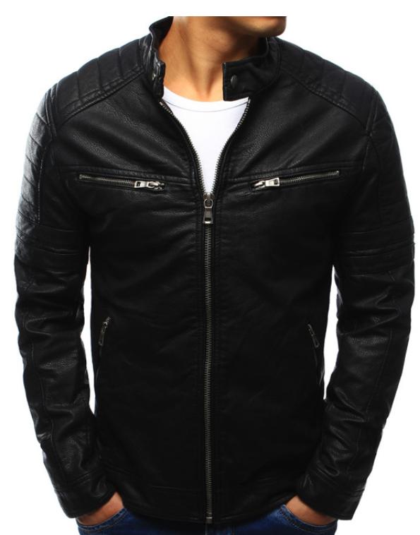 Мужская куртка эко-кожа №3 Чёрный