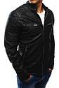 Мужская куртка эко-кожа №3 Чёрный, фото 2