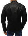 Мужская куртка эко-кожа №3 Чёрный, фото 3