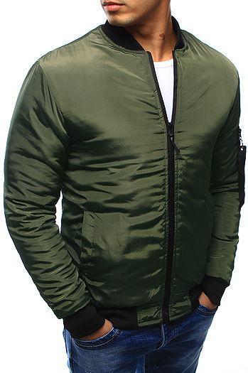 Мужская демисезонная бомбер куртка Хаки