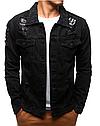 Мужская джинсовая куртка Серый, фото 4