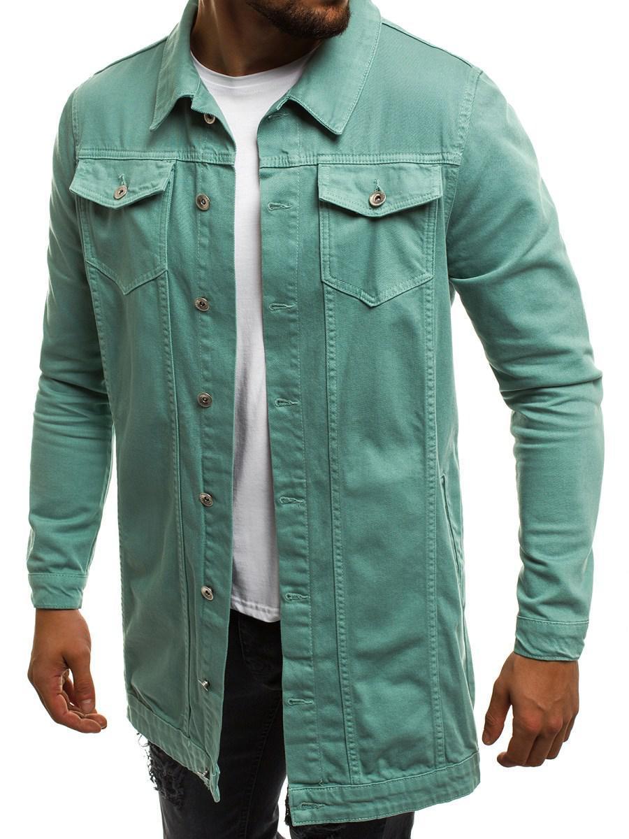 Мужская джинсовая удлиненная куртка