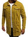 Мужская джинсовая удлиненная куртка , фото 10