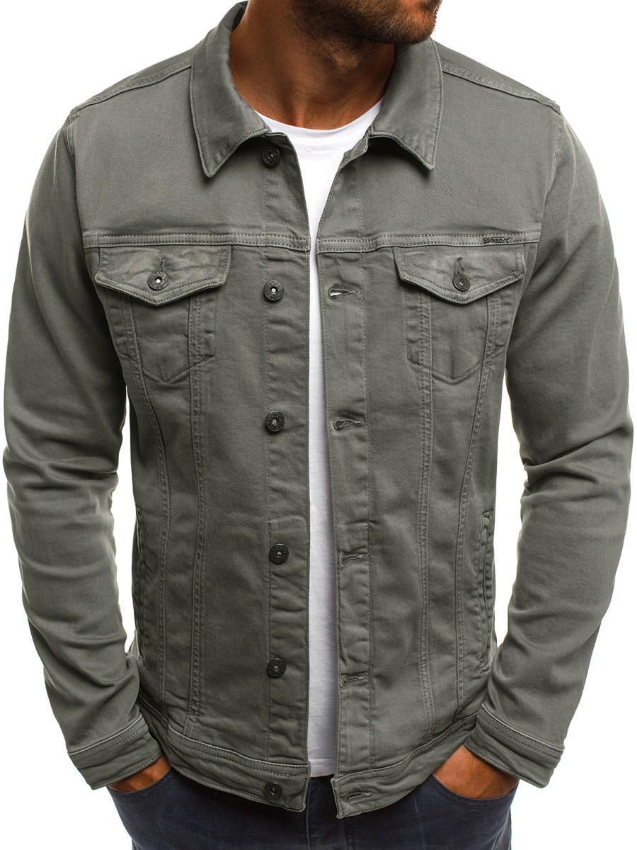 Мужская цветная джинсовая  куртка 7