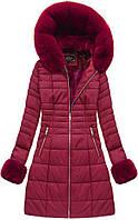 Зимняя женская куртка  на меху Бордовый