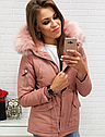 Женская цветная  зимняя парка Розовый, фото 2