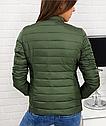 Женская короткая стеганая куртка Черный, фото 3