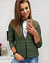 Женская короткая стеганая куртка Черный, фото 5