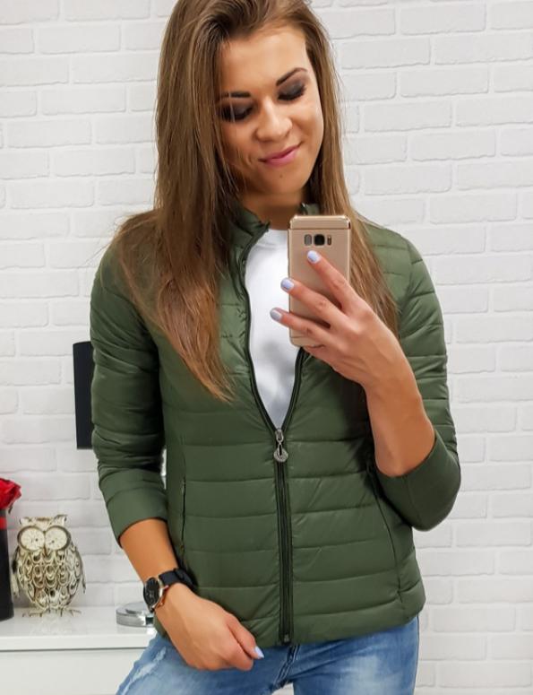 Женская короткая стеганая куртка Хаки