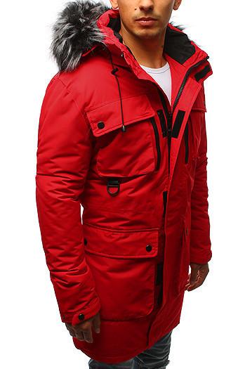 Парка спортивная на зиму мужская Красный
