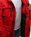 Парка спортивная на зиму мужская Красный, фото 7