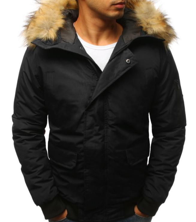 Мужская куртка бомбер зимняя Черный