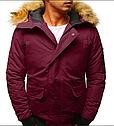 Мужская куртка бомбер зимняя Черный, фото 8