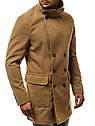 Мужское  пальто на пуговицах №2 Карамель, фото 4