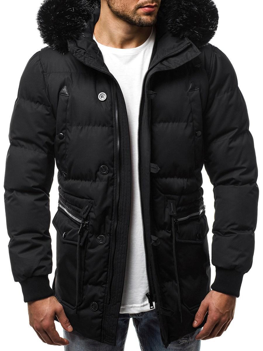 Куртка зимняя мужская с капюшоном Черный