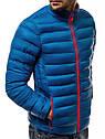Мужская стеганая куртка воротник-стойка Темно-синий, фото 5
