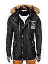 Куртка зимняя мужская парка с капюшоном  Хаки, фото 7