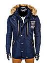Куртка зимняя мужская парка с капюшоном Черный, фото 2