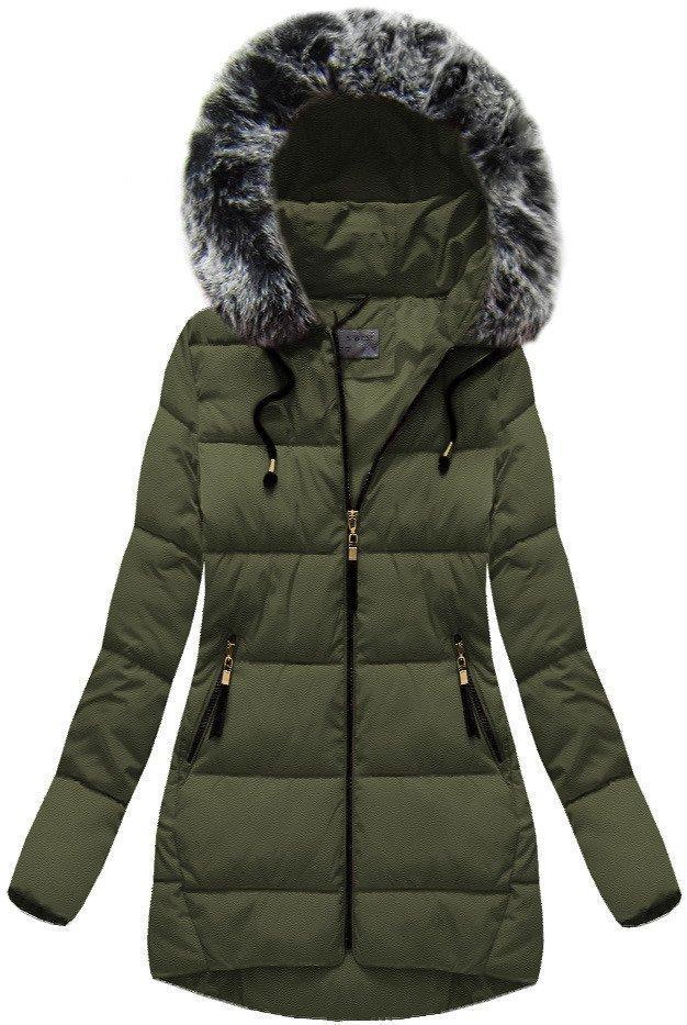 Женская куртка зимняя с капюшоном Зелёный