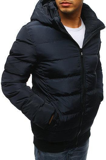 Мужская  зимняя куртка с капюшоном №1 синий