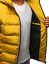 Мужская  зимняя куртка с капюшоном №1 синий, фото 7