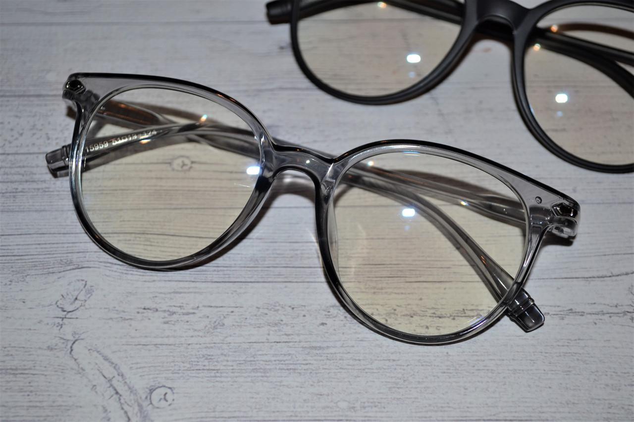 Имиджевые очки  круглые с  прозрачной линзой анти блик  уценка
