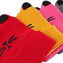 Детские шапочки с рожками и усиками Котик розовый, фото 6