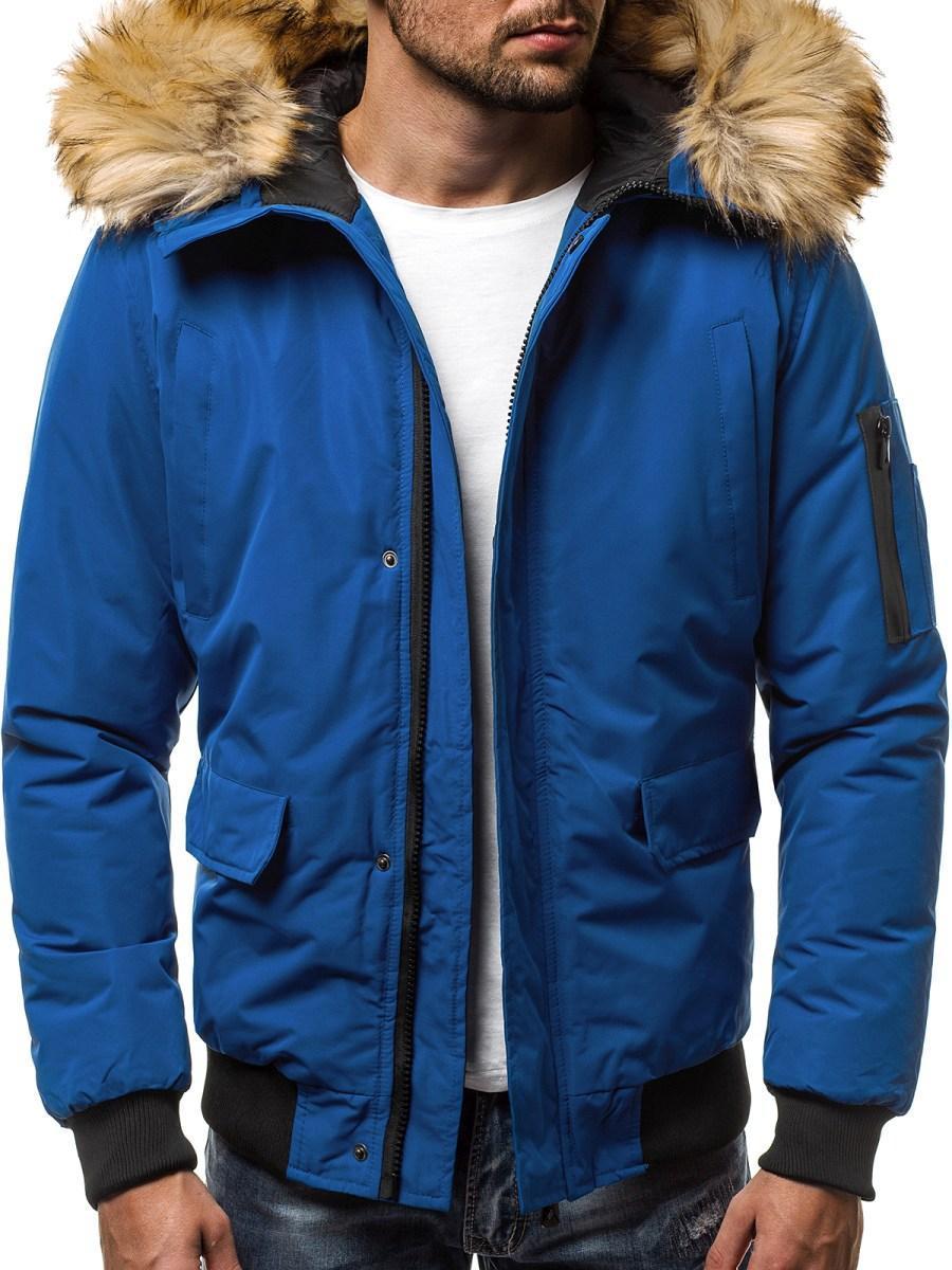 Куртка зимняя мужская с капюшоном Синий