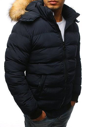 Мужская  зимняя куртка с капюшоном №3 Синий
