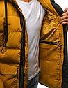 Мужская  зимняя куртка с капюшоном №4 Желтый, фото 3