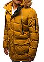 Мужская  зимняя куртка с капюшоном №4 Желтый, фото 6