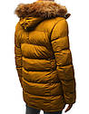 Мужская  зимняя куртка с капюшоном №4 Желтый, фото 7