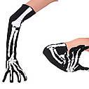 Перчатки Скелет длинные, Унисекс, фото 5