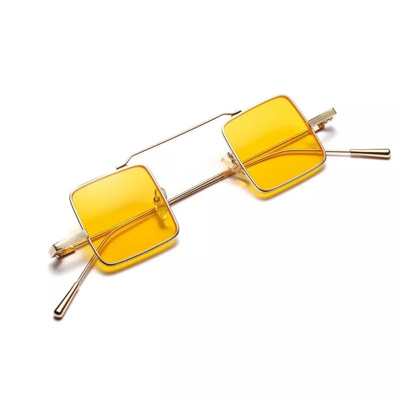 Солнцезащитные очки квадрат цветной Желтый