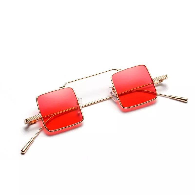 Солнцезащитные очки квадрат цветной Красный