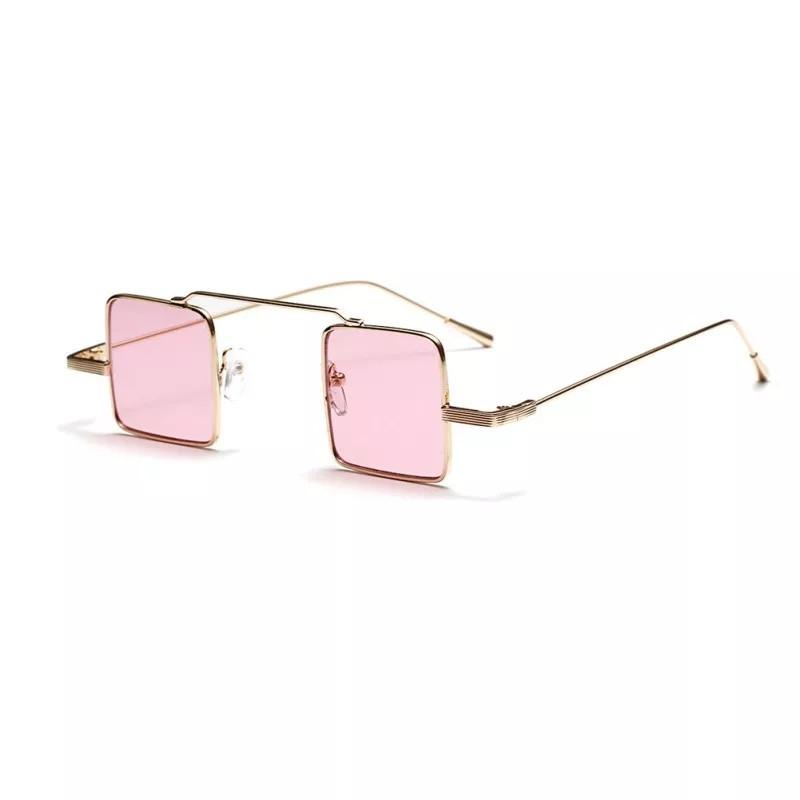 Солнцезащитные очки квадрат цветной  Розовый