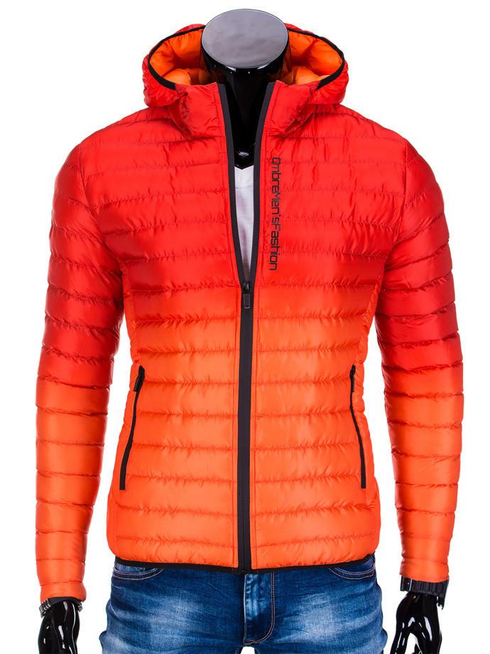 Мужская  молодёжная стёганая куртка Красный