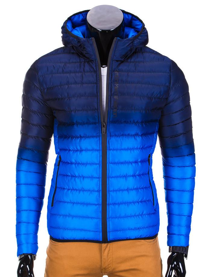 Мужская  молодёжная стёганая куртка Синий