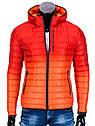 Мужская  молодёжная стёганая куртка Камуфляж оранжевый, фото 2