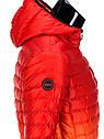Мужская  молодёжная стёганая куртка Камуфляж оранжевый, фото 3