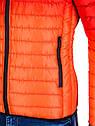 Мужская  молодёжная стёганая куртка Камуфляж оранжевый, фото 4