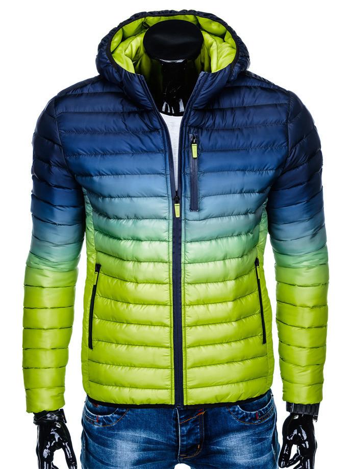 Мужская  молодёжная стёганая куртка Зеленый
