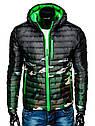 Мужская  молодёжная стёганая куртка Зеленый, фото 10