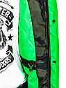 Мужская парка  пуховик с капюшоном Камуфляж зеленый, фото 6