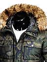 Мужская зимняя парка  камуфляж Черный, фото 5