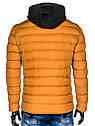 Мужская  молодёжная стёганая куртка с капюшоном Синий, фото 10
